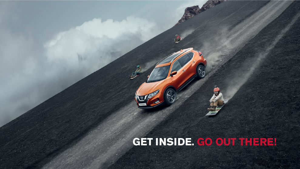 New Nissan X-Trail going down hill