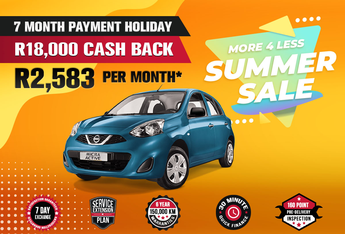 NEC landing page specials October mobile Nissan Micra Active 1
