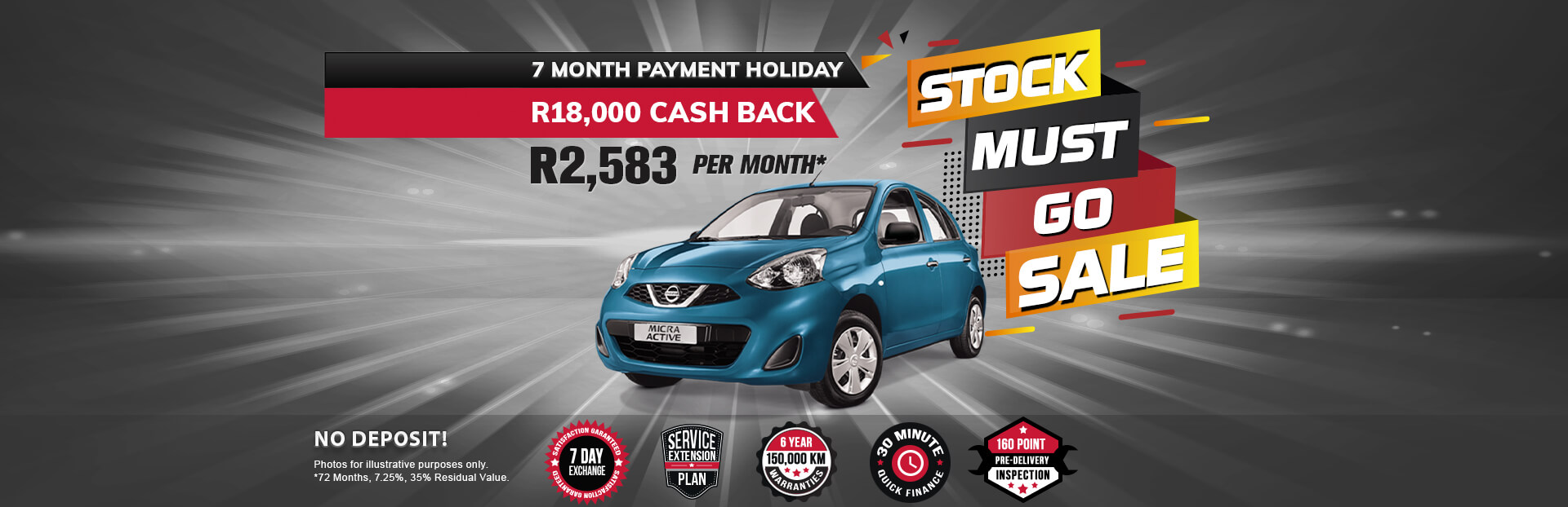NEC landing page specials September Micra Active