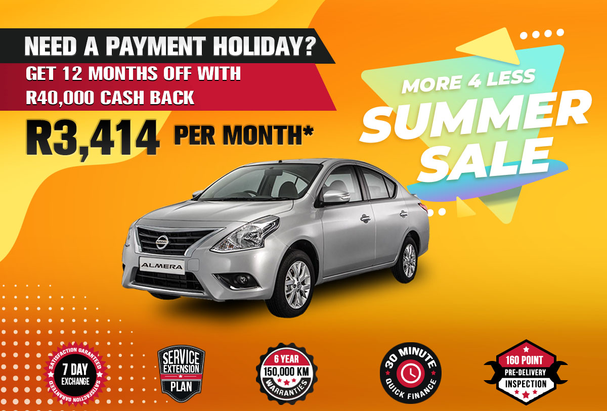 NEC landing page specials October mobile Nissan Almera