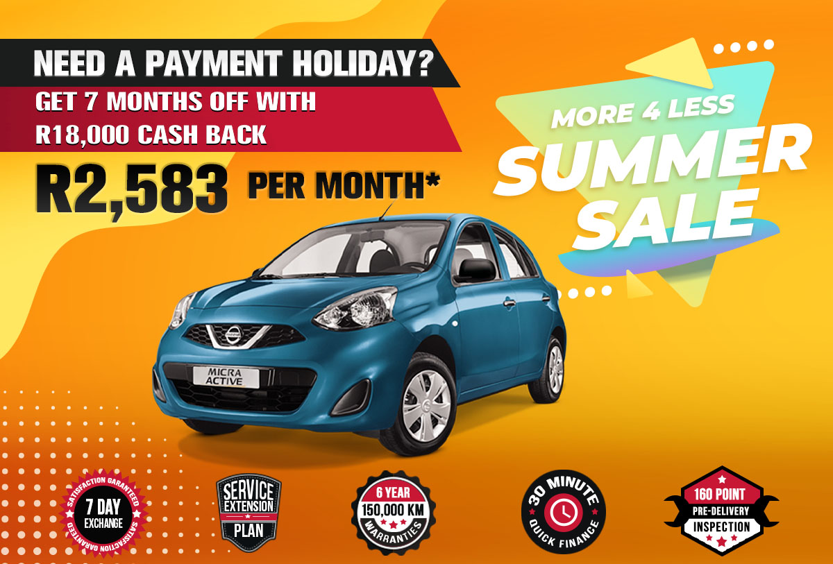 NEC landing page specials October mobile Nissan Micra Active