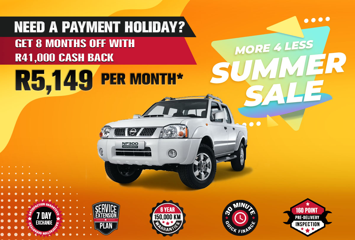 NEC landing page specials October mobile Nissan NP300 D CAB