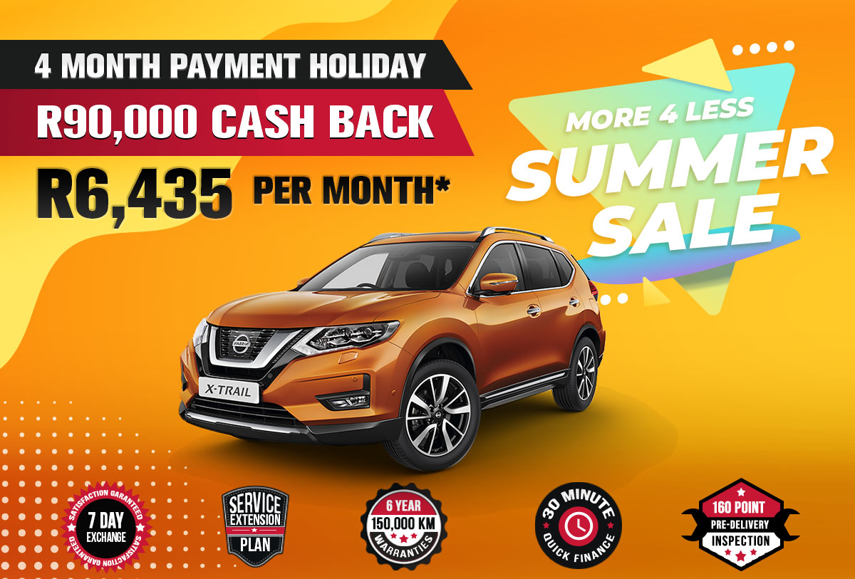 NEC landing page specials October mobile Nissan X Trail