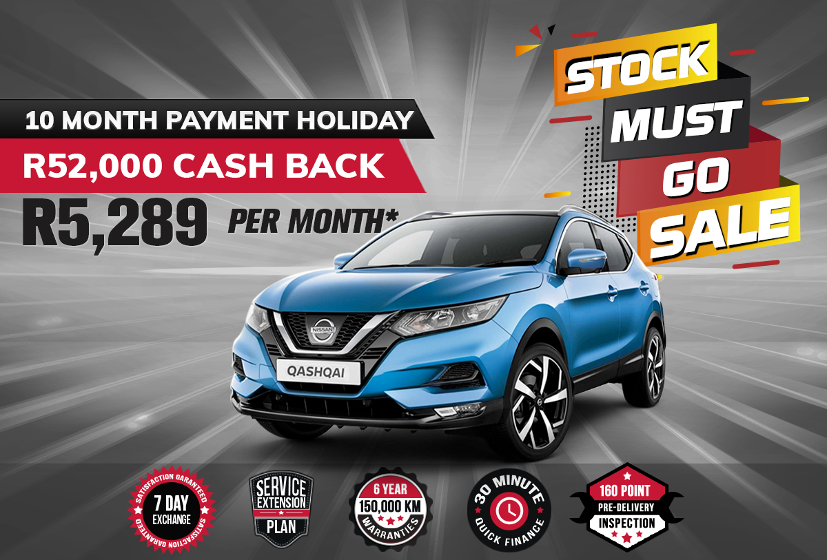 NEC landing page specials august mobile Qashqai