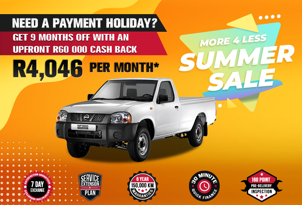 NEC landing page specials October mobile V4Nissan NP300 2.5 LWB