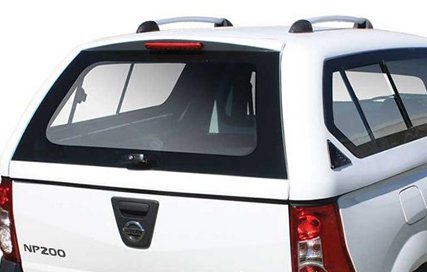 Nissan NP200 review on payload cover.