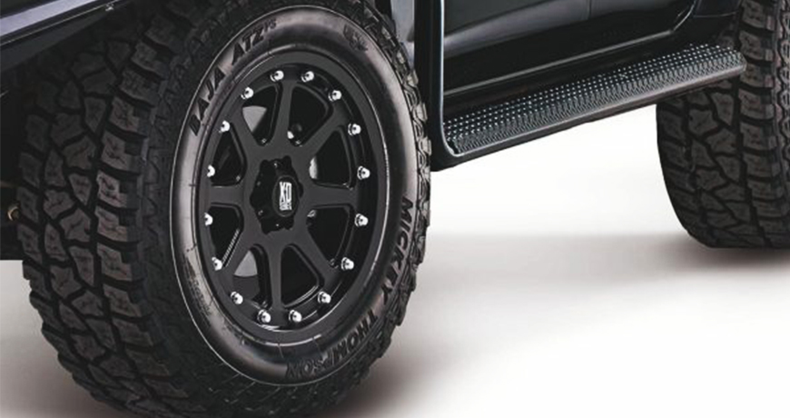 Navara steel side steps and wheels