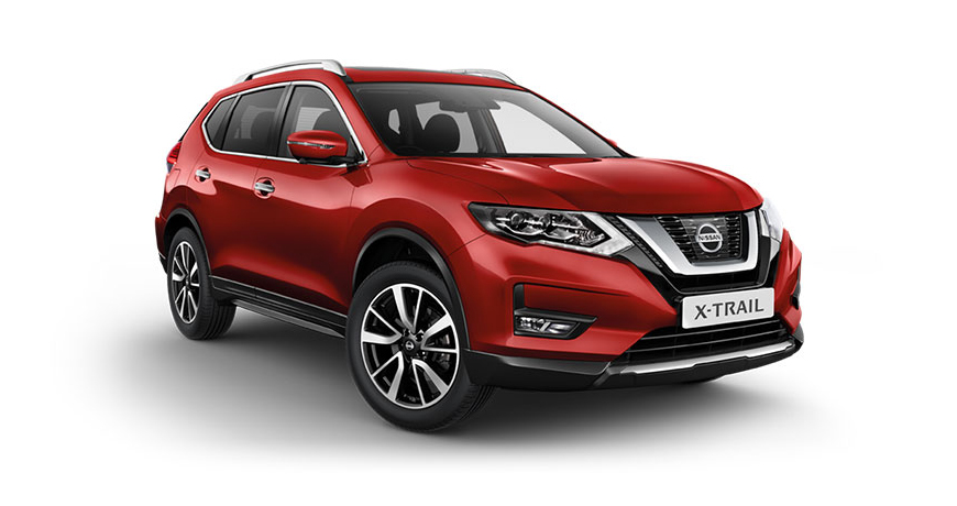 Nissan X-Trail in tinted red.