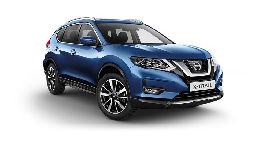 Nissan X-Trail in blue.