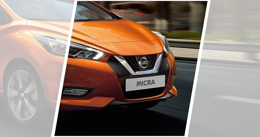 Close up of the new Micra front view