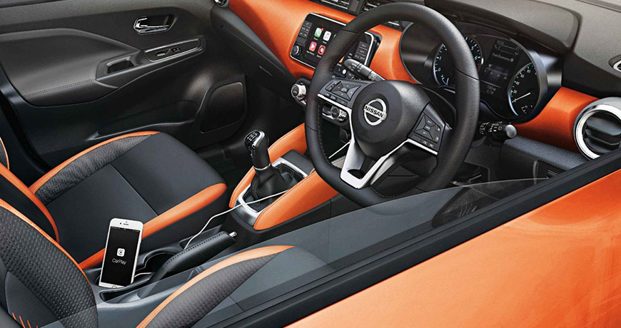 New Nissan Micra Energy with an Orange interior upholstery