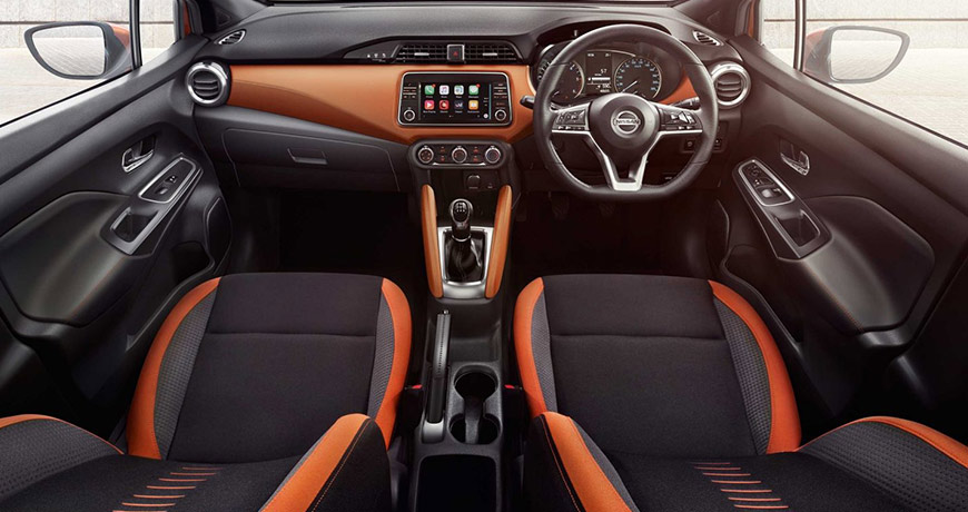 06 Nissan Micra New Orange Interior 1