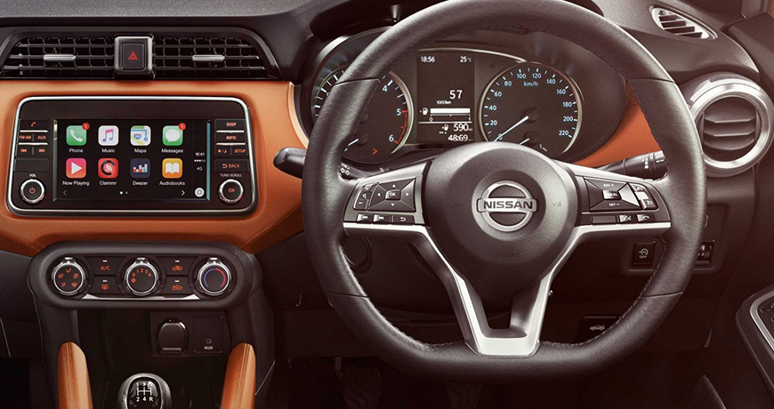 Nissan micra interior design in orange and black – a review