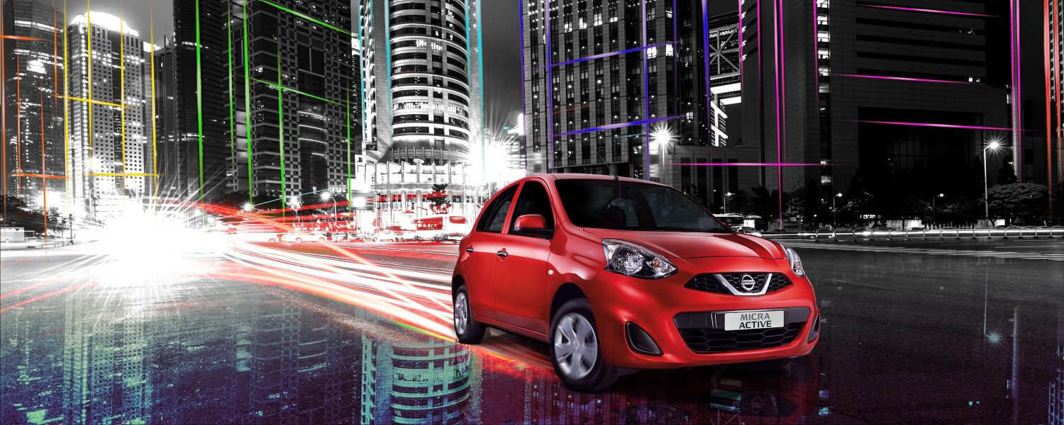 Red Nissan Micra Active