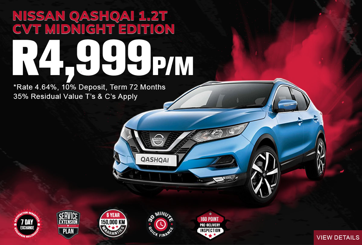 NEC landing page specials Mobile March 2021Nissan Qashqai