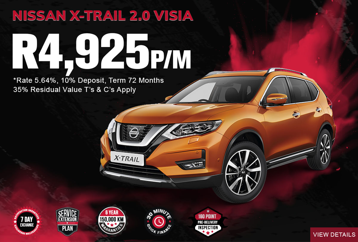 NEC landing page specials Mobile March 2021Nissan X Trail